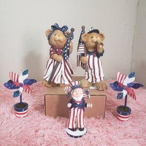 4th of July Patriotic bear decoration